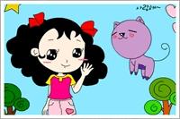 Kız Ve Kedi Boya